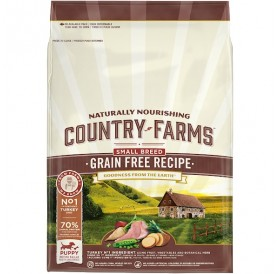 Country Farms GRAIN FREE Recipe Puppy Small Breed Rich In Turkey /Храна За Подрастващи Кученца Дребни Породи С Пуешко Месо/-2,5кг