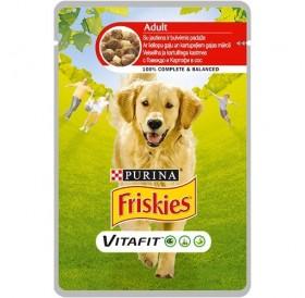 Purina® Friskies® VitaFit™ Adult with Beef and Potatoes in Sauce /храна за израснали кучета с говеждо и картофи в сос/-100гр