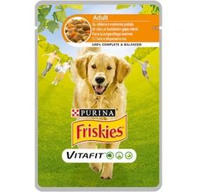 Purina® Friskies® VitaFit™ Adult with Chicken and Carrots in Sauce /храна за израснали кучета с пилешко и моркови в сос/-100гр