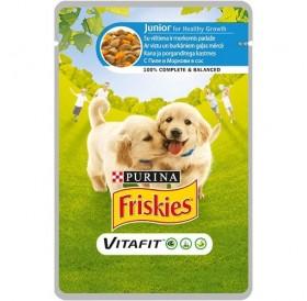 Friskies VitaFit™ Junior with Chicken and Carrots in Sauce /храна за подрастващи кученца с пилешко и моркови в сос/-100гр