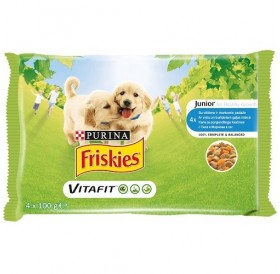 Friskies VitaFit™ Junior with Chicken and Carrots in Sauce /храна за подрастващи кученца с пилешко и моркови в сос/-4х100гр