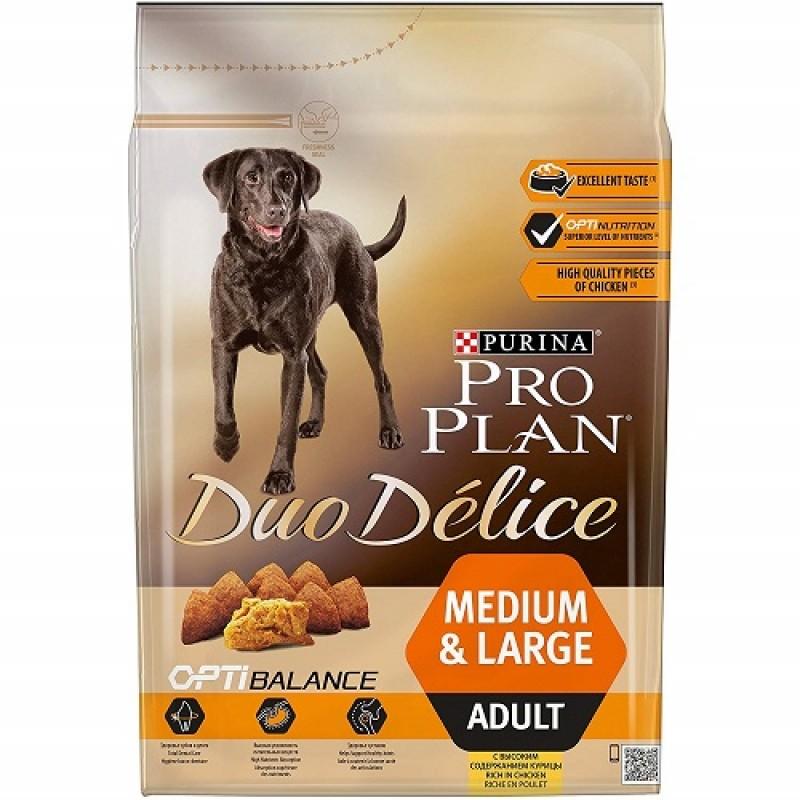 Pro Plan Duo Délice Medium&Large Adult With Chicken /Храна За Израснали Кучета Средни И Големи Породи С Пилешко Месо/-2,5кг