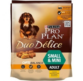 Purina® Pro Plan® Duo Délice Small&Mini Adult with Chicken /храна за израснали кучета дребни породи с пилешко месо/-700гр