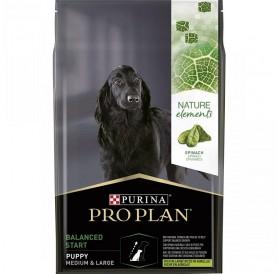 Pro Plan Nature Elements Balanced Start Medium&Large Puppy /Храна За Подрастващи Кученца Средни И Големи Породи С Богато Съдържание На Агнешко Месо Спанак И Рибено Масло/-10кг