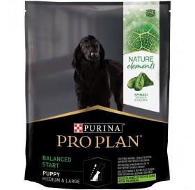 Pro Plan Nature Elements Balanced Start Medium&Large Puppy /Храна За Подрастващи Кученца Средни и Големи Породи С Богато Съдържание На Агнешко Месо Спанак И Рибено Масло/-700гр