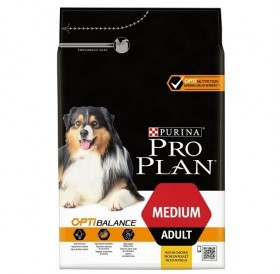 Pro Plan Medium Adult With Optibalance /Храна За Израснали Кучета Средни Породи/-3кг