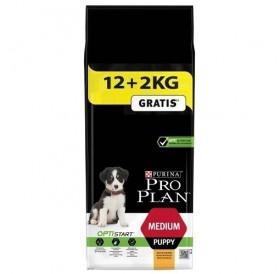 Purina® Pro Plan® Medium Puppy with Optistart® /храна за подрастващи кученца средни породи/-12+2кг ГРАТИС