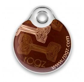 Rogz id-Tagz Mocha Bone Small /адресник за куче/-Ø27мм
