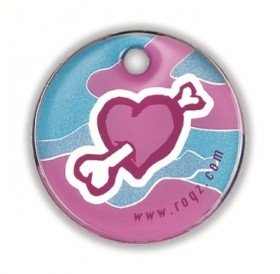 Rogz id-Tagz Bone Heart Large /адресник за куче/-Ø34мм