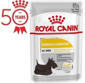 Royal Canin Dermacomfort Mousse /храна за израснали кучета склонни към кожни възпаления и сърбежи/-12x85гр