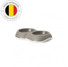 Savic Double Plastic Bowl Delice /Пластмасова Двойна Купа С Гумиран Пръстен Против Приплъзване 2х0,2л/-26x15,5x4см