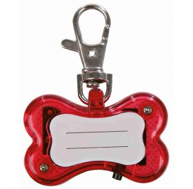 Trixie Flasher For Dogs With Address Field /Светещ Адресник За Куче/-4,5x3см