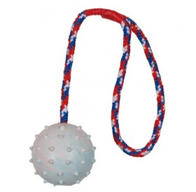 Trixie Ball on a Rope Natural Rubber /играчка за куче топка на въже/-Ø6x30см