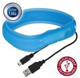 Trixie Flash Light Band USB Long Hair XS-S /USB Светещ Нашийник За Кучета С Дълга Козина/-3x35см