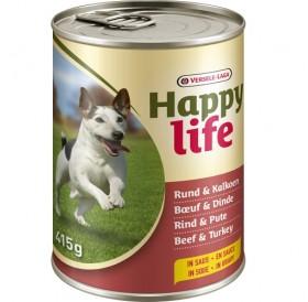 Versele-Laga Happy Life Adult Beef&Turkey in Gravy /храна за израснали кучета с говеждо и пуешко месо/-415гр