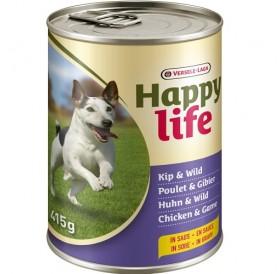 Versele-Laga Happy Life Adult Chicken&Game in Gravy /храна за израснали кучета с пилешко месо и дивеч/-415гр