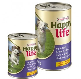 Versele-Laga Happy Life Adult Chicken&Game in Gravy /храна за израснали кучета с пилешко месо и дивеч/-1,24кг