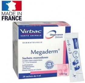 Virbac Megaderm® /течна хранителна добавка за животни (до 10кг.) с кожни проблеми/-28бр