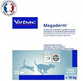 Virbac Megaderm /течна хранителна добавка за животни (до 10кг.) с кожни проблеми/-28бр