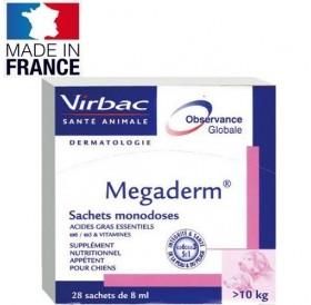 Virbac Megaderm® /течна хранителна добавка за животни (над 10кг.) с кожни проблеми/-28бр