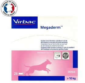 Virbac Megaderm /течна хранителна добавка за животни (над 10кг.) с кожни проблеми/-28бр