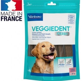 Virbac VeggieDent™ Large /дентални ламели за кучета голяма порода/-15бр