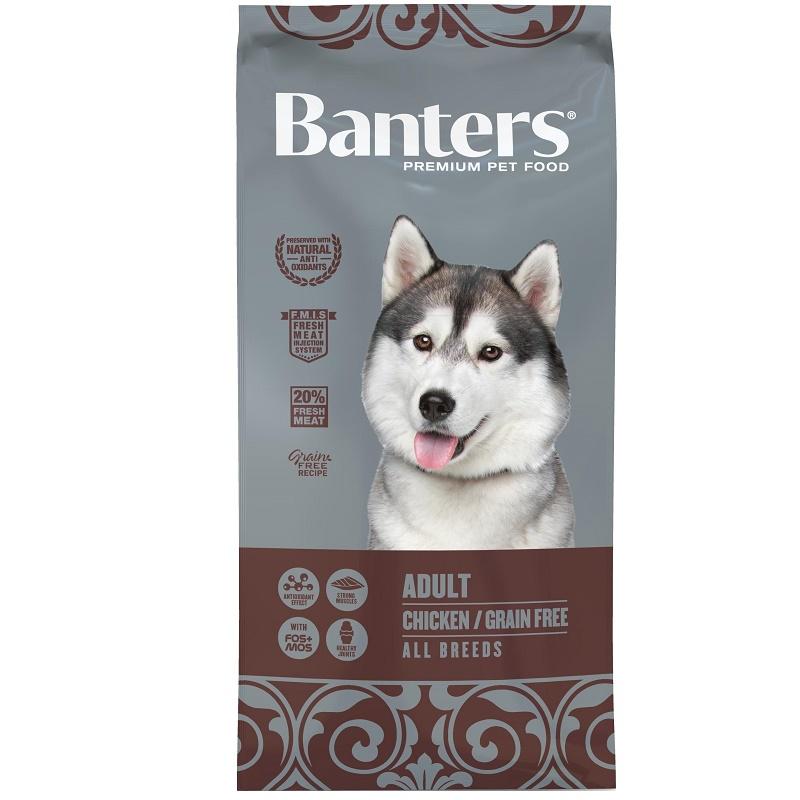 Banters Adult Chicken Grain Free All Breeds /храна за израснали кучета с пилешко месо и без съдържание на зърнени култури/-15кг