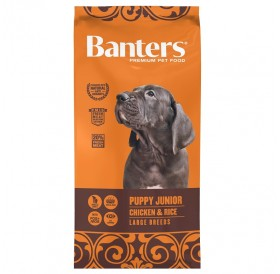 Banters Puppy/Junior Chicken&Rice Large Breed /Храна За Подрастващи Кученца Големи Породи С Пилешко Месо И Ориз/-3кг