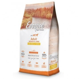 Evoque® Adult Medium/Large Chicken&Turkey /храна за израснали кучета средни и големи породи с пилешко и пуешко месо/