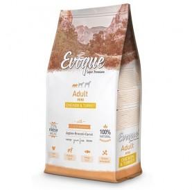 Evoque® Adult Mini Chicken&Turkey /храна за израснали кучета дребни породи с пилешко и пуешко месо/