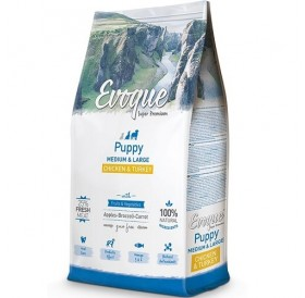 Evoque® Puppy Medium/Large Chicken&Turkey /храна за подрастващи кученца средни и големи породи с пилешко и пуешко месо/
