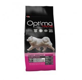 Optima nova Puppy Sensitive Salmon&Potato /храна за подрастващи кученца от всички породи с проблемна козина или чувствителен стомах/