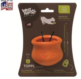 West Paw® Design Toppl Treat Toy S /интерактивна играчка за куче/-Ø8см