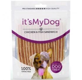 it's My Dog Chicken&Fish Sandwich /лакомства за куче ленти с пилешко месо и риба/-85гр