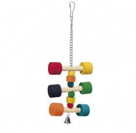 Ferplast PA 4091 /дървена играчка за средни и големи папагали/-11/11/31см