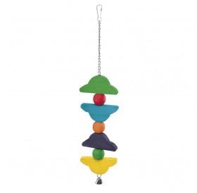 Ferplast PA 4096 /разноцветна дървена играчка за средни и големи папагали/-9/47см