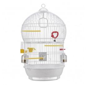 Ferplast Bali White /напълно оборудвана клетка за малки птички/-Ø43,5x68,5см