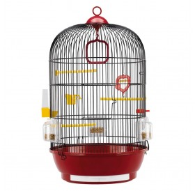 Ferplast Diva Black /напълно оборудвана клетка за малки птички/-Ø40x65см