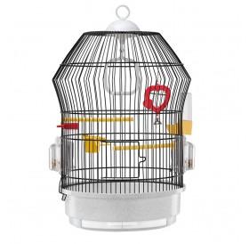 Ferplast Katy Black /напълно оборудвана клетка за малки птички/-Ø36,5x56см