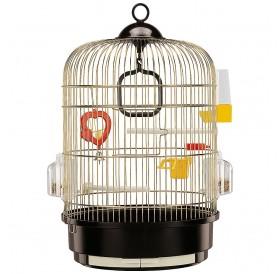Ferplast Regina Brass /напълно оборудвана клетка за малки птички/-Ø32,5x49см
