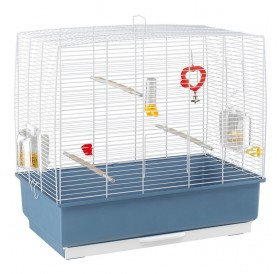 Ferplast Rekord 4 White /напълно оборудвана клетка за малки птички/-60x32,5x57,5см