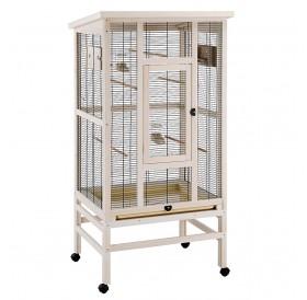 Ferplast Wilma Wooden /оборудвана дървена волиера за птички/-83x67x158,5см