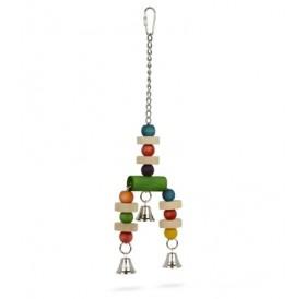Padovan Bird Toy T2 /Дървена Играчка За Папагали/-9х33,5см