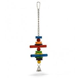Padovan Bird Toy T3 /Дървена Играчка За Папагали/-9х32,5см