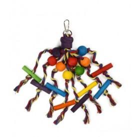 Padovan Bird Toy T6 /Дървена Играчка За Папагали/-12х30см
