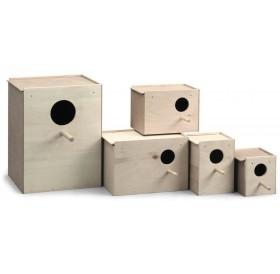 Padovan Wooden Nest L1 /Къщичка Гнездилка За Декоративни Птички/-12x11x11,5см