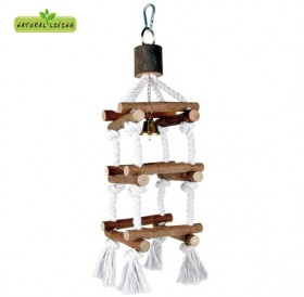 Trixie Natural Living Tower with Rope /играчка за птички/-34см