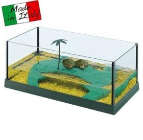 Ferplast Haiti 40 /стъклен аквариум за костенурки/-41,5x21,5x16см
