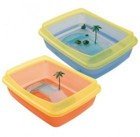 Ferplast Tortugas /пластмасов аквариум за водни костенурки/-47x36x15,5см