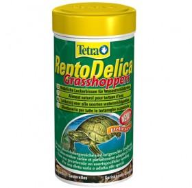 Tetra ReptoDelica Grasshoppers /деликатесна храна със скакалци за водни костенурки/-250мл